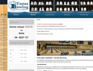 vantaabowling.fi screenshot