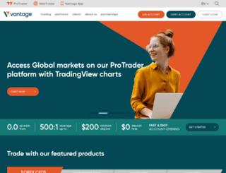 vantagefx.com screenshot