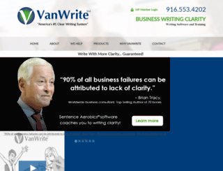 vanwrite.com screenshot