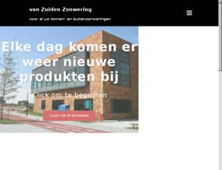 vanzuidenzonwering.nl screenshot