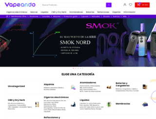 vapeando.com.mx screenshot