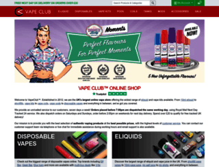 vapeclub.co.uk screenshot
