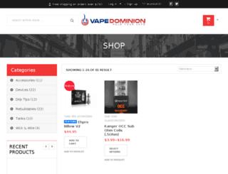 vapedominion.com screenshot