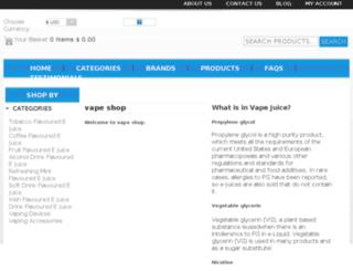 vapeshop.ie screenshot