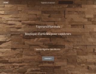 vapeursetsaveurs.ca screenshot