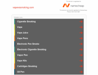 vapevssmoking.com screenshot