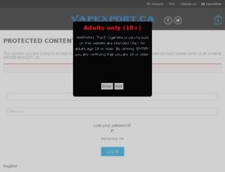 vapexport.ca screenshot