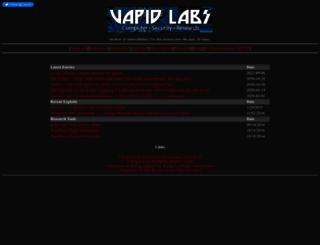 vapid.dhs.org screenshot