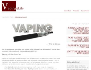 vaping4life.nl screenshot