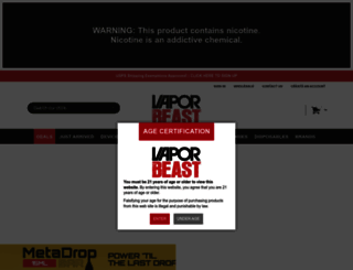 vaporbeast.com screenshot