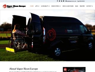vaporricon.co.uk screenshot