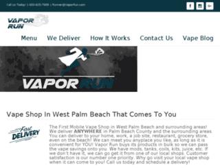 vaporrun.com screenshot