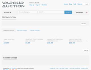 vapourauction.com screenshot