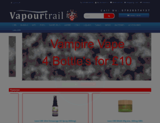 vapourtrailuk.co.uk screenshot