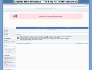 vaquerohorsemanship.phpbb8.de screenshot