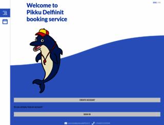 varaus.pikkudelfiinit.fi screenshot