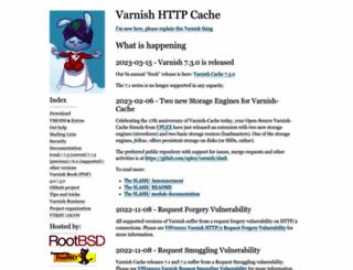 varnish-cache.org screenshot