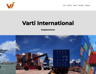 vartiinternational.com screenshot