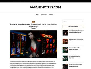 vasanthotels.com screenshot