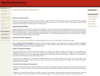 vasculardementiacare.com screenshot
