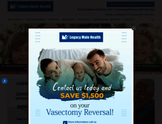 vasectomyreversal.com screenshot