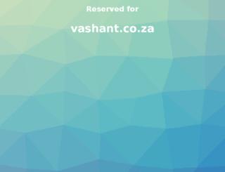 vashant.co.za screenshot