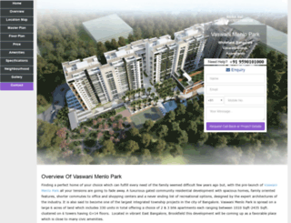 vaswanimenlopark.location-price-bangalore.com screenshot