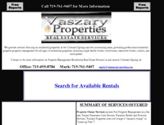 vaszaryproperties.com screenshot