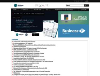 vat.gov.mt screenshot