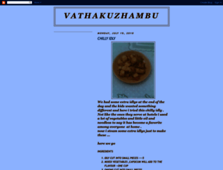 vathakuzhambu.blogspot.com screenshot