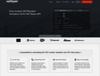 vatlayer.com screenshot