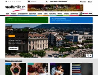 vaudfamille.ch screenshot