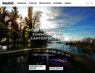 vaudtourisme.ch screenshot