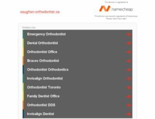 vaughan-orthodontist.ca screenshot