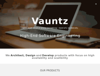 vauntz.com screenshot