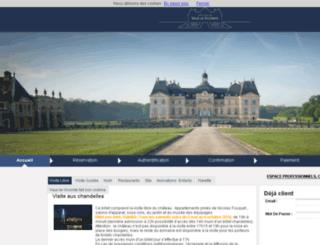 vaux-le-vicomte.getaticket.com screenshot