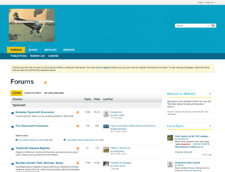 vb.taylorcraft.org screenshot