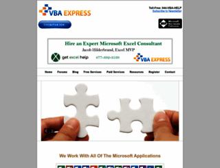vbaexpress.com screenshot