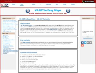 vbdotnettutorials.ktsinfotech.com screenshot