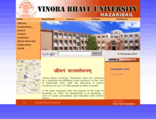 vbuhazaribag.co.in screenshot