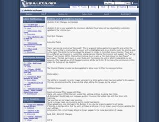 vbulletin.org screenshot