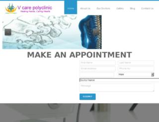 vcarepolyclinic.in screenshot