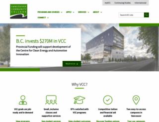 vcc.ca screenshot