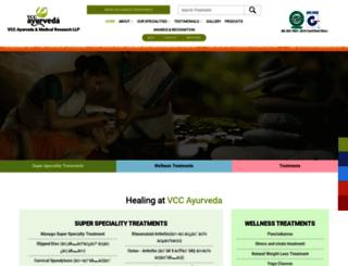 vccayurveda.com screenshot