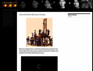 vcehistory.info screenshot