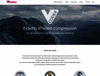 vcodex.com screenshot