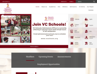 vcs.schoolwires.net screenshot