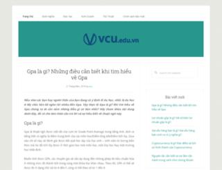 vcu.edu.vn screenshot