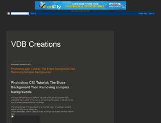vdbcreations.blogspot.com screenshot