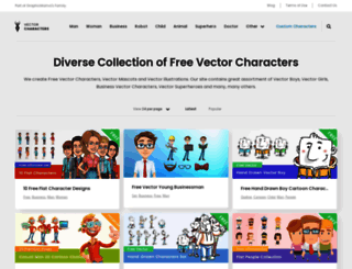 vectorcharacters.net screenshot
